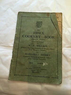 VINTAGE ESSEX COOKERY BOOK 1935 RECIPE PAMPHLET RECIPES 1930's
