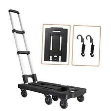 Folding Luggage Cart With 500 Lbs Capacity Portable Aluminum Hand Truck And