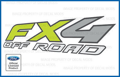 09 10 11 Ford F150 FX4 Off Road Decals FGRN offroad Stickers Truck 4x4 bed Green