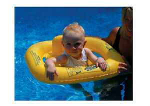 Details about AquaCoach Inflatable Baby Seat Swimline pool FLOAT learn to  swim Toys lake 9825