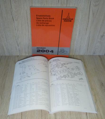 Piezas de recambio lista Deutz remolcador tractor intrac 2004