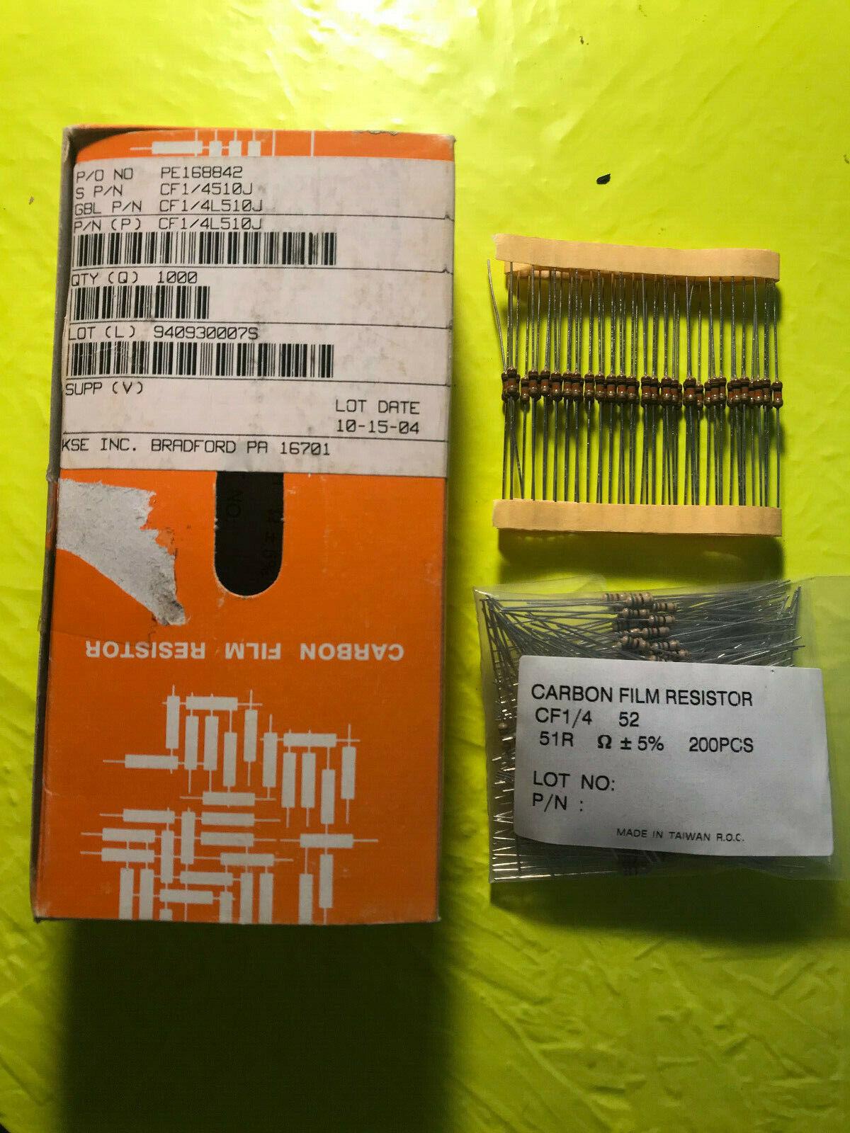 1//4W 0.25W 5/% 220 R OHM Carbon Film Resistor 1st Class Postage New 100 PCS