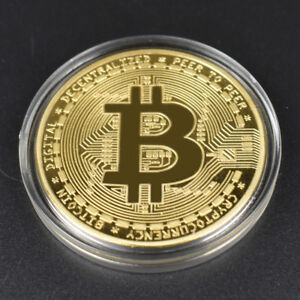 2x-Rare-Collectible-Golden-Iron-Bitcoin-Commemorative-2018-Best-Coin-BIT-UP-Gift
