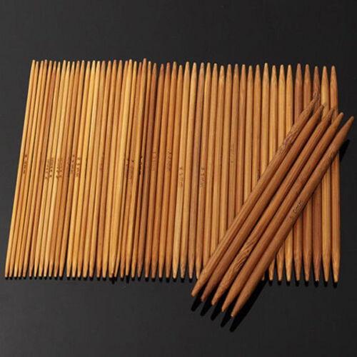 55Pcs 11 Taille 13 cm double pointes carbonisé BAMBOU à Tricoter Crochet aiguille crochet