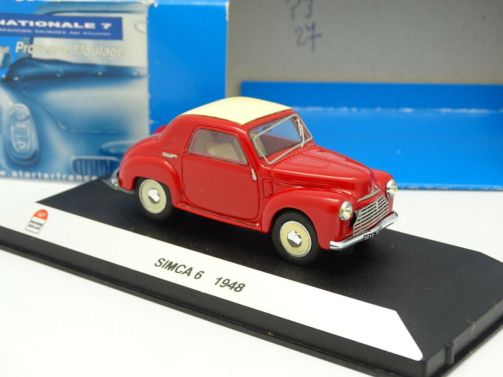 Starter n7 1 43 - provence resin simca 6 1948 red