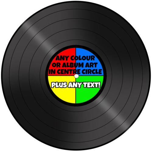 "A 7.5/"" Tour record//Vinyle Personalised Cake Topper Glaçage"