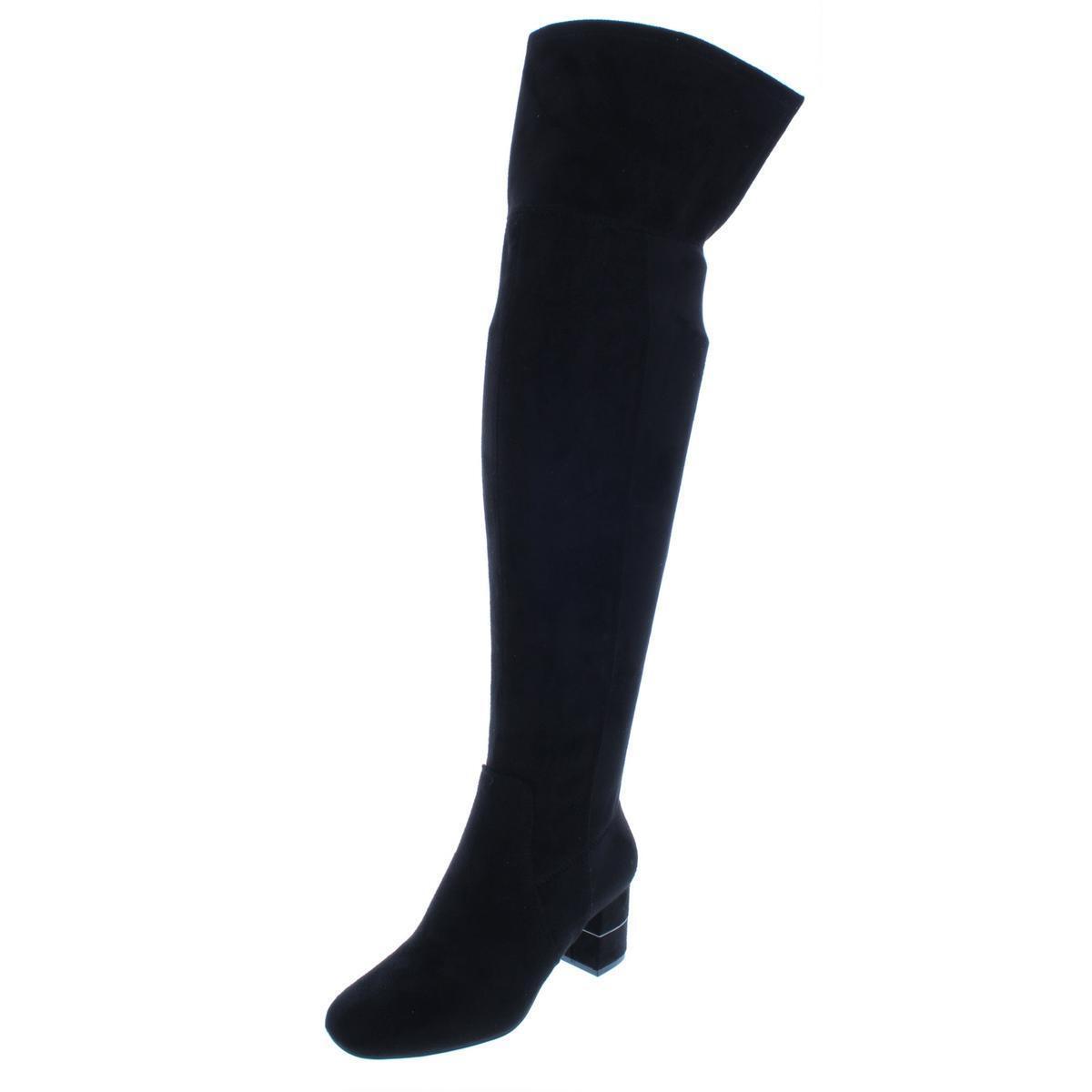 Alfani Alfani Alfani Women's Size 7M Step 'N Flex Novaa Over-The-Knee Boots Black Side Zipper 0bc318