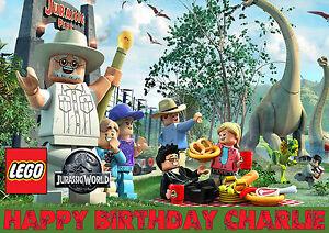 LARGE Lego Jurassic World Birthday Party Cake Decoration Icing Sheet