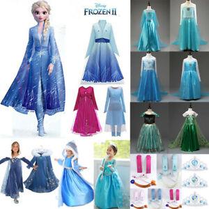Frozen Eiskönigin Anna Cosplay Kostüm Mädchen Karneval Fasching Party AbendKleid