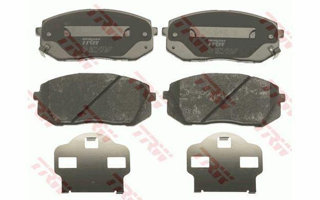 4x TRW Plaquettes de Frein Avant pour KIA SPORTAGE CARENS HYUNDAI ix35 GDB3461