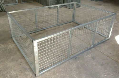 Paxton 7ft x 5ft Galvanised High Sided 600mm Trailer Cage Mesh Attachment Kit