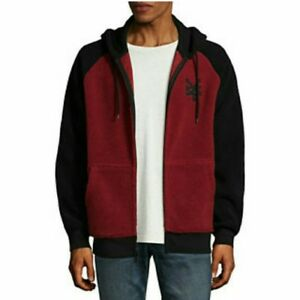 8cd1c163c Details about NWT $70 Zoo York Mens Long Sleeve Red & Black Sherpa Hoodie  Jacket Sizes S, M
