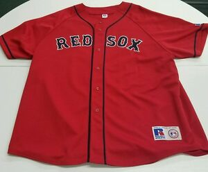 Authentic MLB Russell Athletic Red Red Sox Nomar Garciaparra Jersey ... 9e54ea71b1b