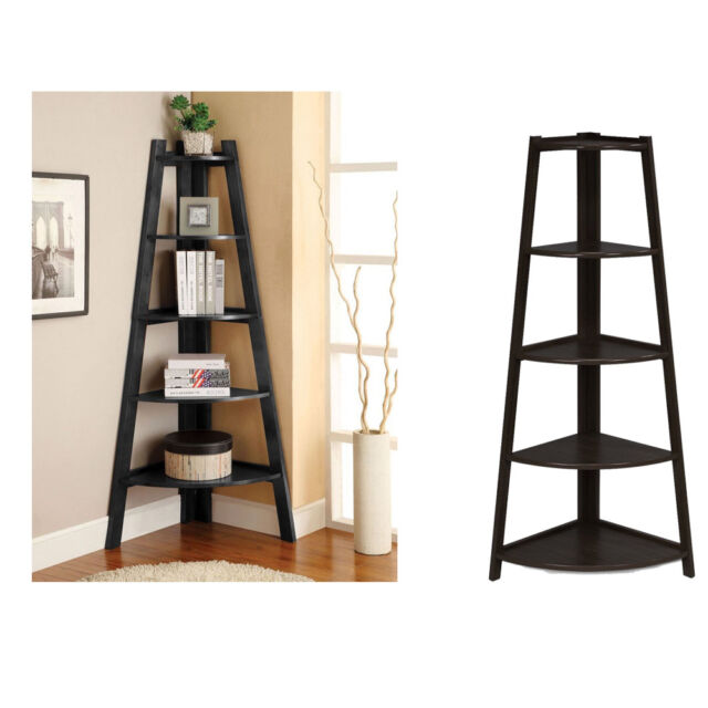 Shelves Corner Display Rack 5 Tier Shelf Stand Furniture Storage Home Office