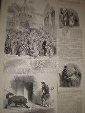 Grand Bal costume at Southampton & dog emile at Astley's london 1846 prints