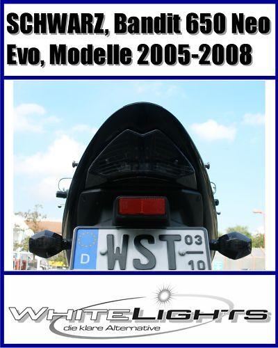 DEL Feu arrière Feu Arriere Noir suzuki gsf650 GSF 650 N S k5 k6 k7 k8