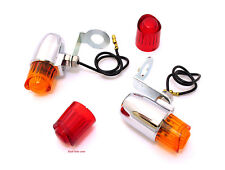 ☆ Chrome Pony Marker Lights / Turn Signals • Vintage Motorcycle • DS-280006 ☆