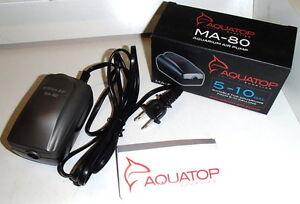 Fish & Aquariums Aquatop Ma-80 Million Air Aquarium/hydroponic Electric Pump 5-10 Gallon Tank New