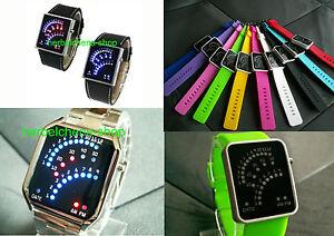 Binaer-Uhr-Digital-29-LED-Unisex-Binaere-Uhr-Armbanduhr