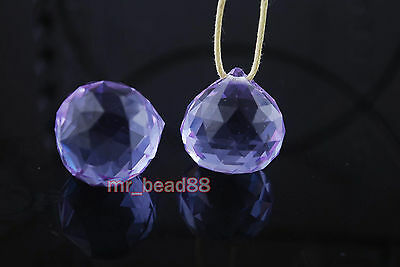 CRYSTAL PRISM CHANDELIER WEDDING DECOR Findings TEARDROP Beads Pendant 20mm
