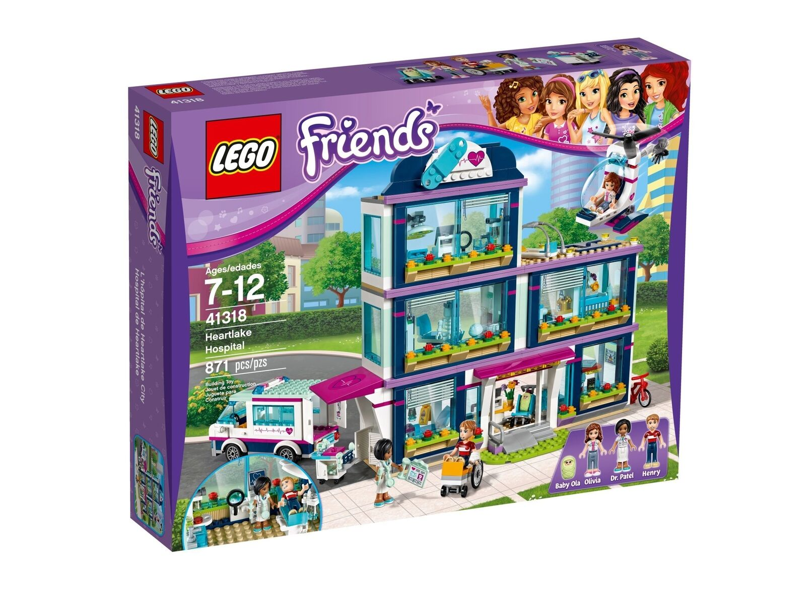 Lego Friends 41318 Heartlake Hôpital, Neuf Emballage D'Origine Misb