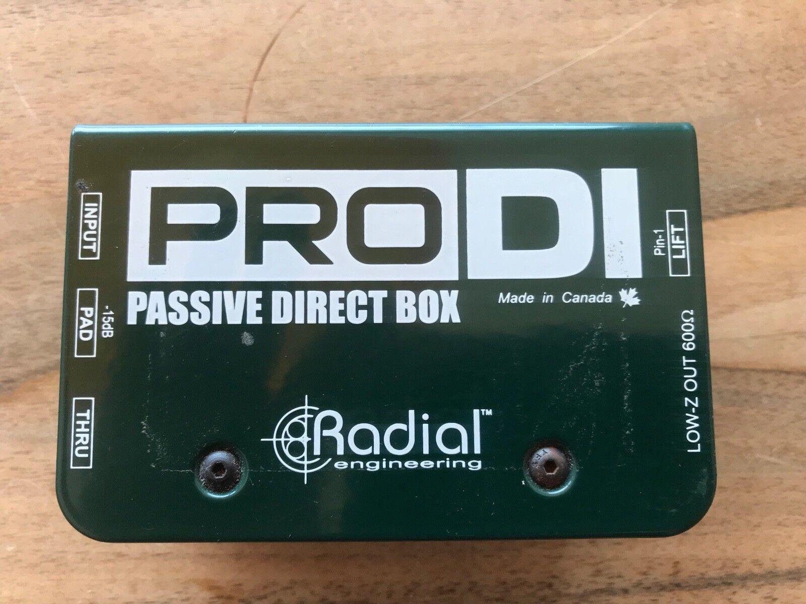 DI BOX   PRO DI Passive Direct Box