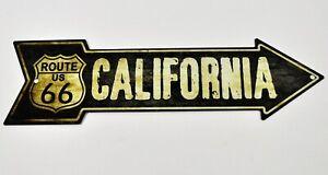USA Route 66 California Wegweiser Pfeil Magnet Blechschild Blech Deko Schild
