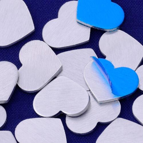 "20pcs 3//8/""x3//8/"" tibetara aluminum love heart Stamping Blank 18 Gauges 10160501"