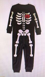 7c7125e5e2eb GYMBOREE NWT Boy Girl Gymmies Skeleton Sleepwear Pajamas Glow in ...