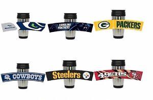 NFL-Football-Stainless-Steel-Travel-Mug-Rubberized-Wrap-3D-Team-Logo-15-oz
