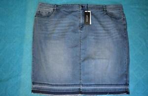 KATIES-Studio-East-Size-26-Straight-Denim-Skirt-NEW-RRP-59-95-MID-Wash-STRETCH