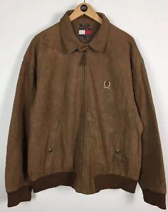 Hilfiger Original Mens Leather Bomber Tommy Harrington Jacket Large TaAwOp5Aq