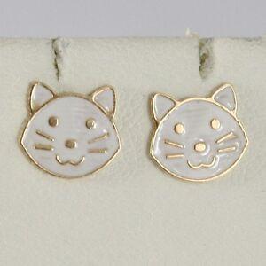 orecchini gatto oro