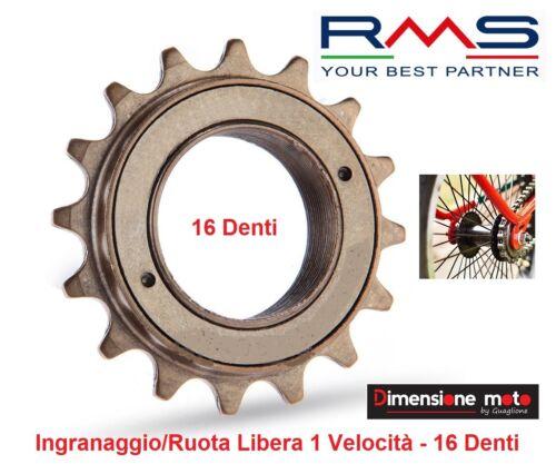 """Ingranaggio//Ruota Libera /""""RMS/"""" 16 Denti-1 Velocita per Bici MTB Mountain 0120"""