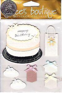 Jolees Boutique Sticker Collage Birthday Cake Spcjc003