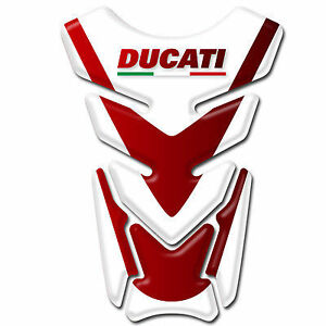 Motorcycle Tank Pad Protector Sticker Ducati Corse Red /& Black