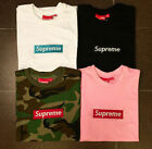 +AAA  NEW SUPREME BOX LOGO Classic pure color cotton T-shirt pocket shirt S-XXL