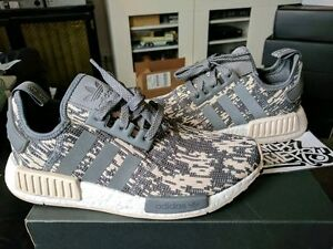 6cc21d34d977 Adidas NMD R1 Nomad Runner Boost Linen Grey Four Glitch Camo White ...