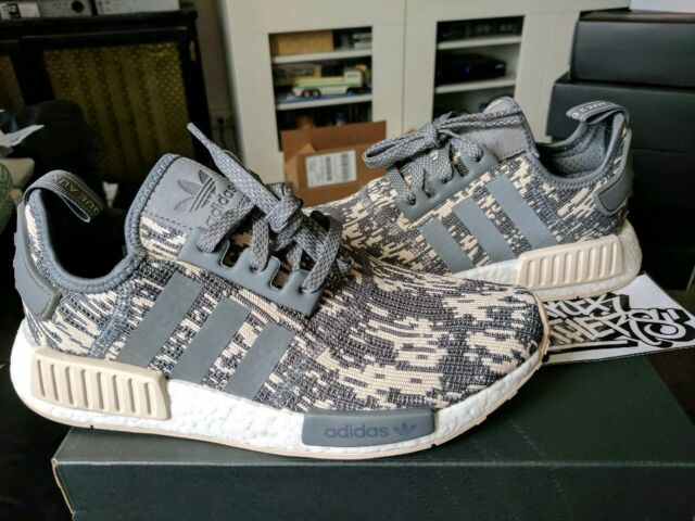 various colors b5292 3d444 Adidas NMD R1 Nomad Runner Boost Linen Grey Four Glitch Camo White Beige  CQ0858