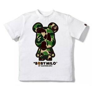 2020 Kids Boy Girls Green Pink Blue Bear Camo Baby Milo T-Shirt Tops Summer Tee