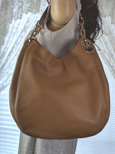 a47855f0e9d9 Michael Kors Fulton Acorn Leather Shoulder Tote Handbag for sale ...