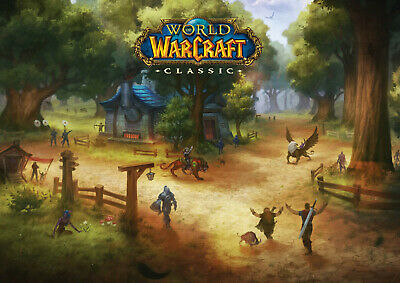 World of Warcraft classico, goldshire, Stampa Poster A3 (420x297mm) -  Blizzard, WOW | eBay