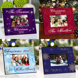 Personalized-CHRISTMAS-HOLIDAY-PICTURE-Photo-FRAME-Decor-Wood