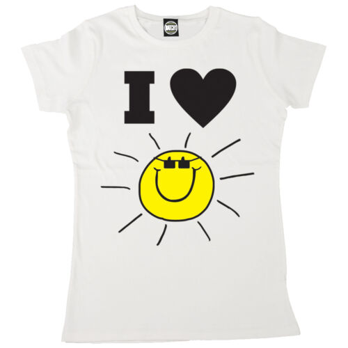 I LOVE sunshine femme été britannique i heart sun t-shirt imprimé