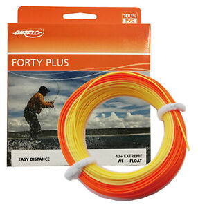Airflo-FORTY-PLUS-40-EXTREME-Specialist-Weight-Forward-Fly-Line-Orange-Yellow