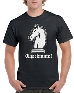 Chess-Checkmate-Black-T-shirt-ADULT-SIZES