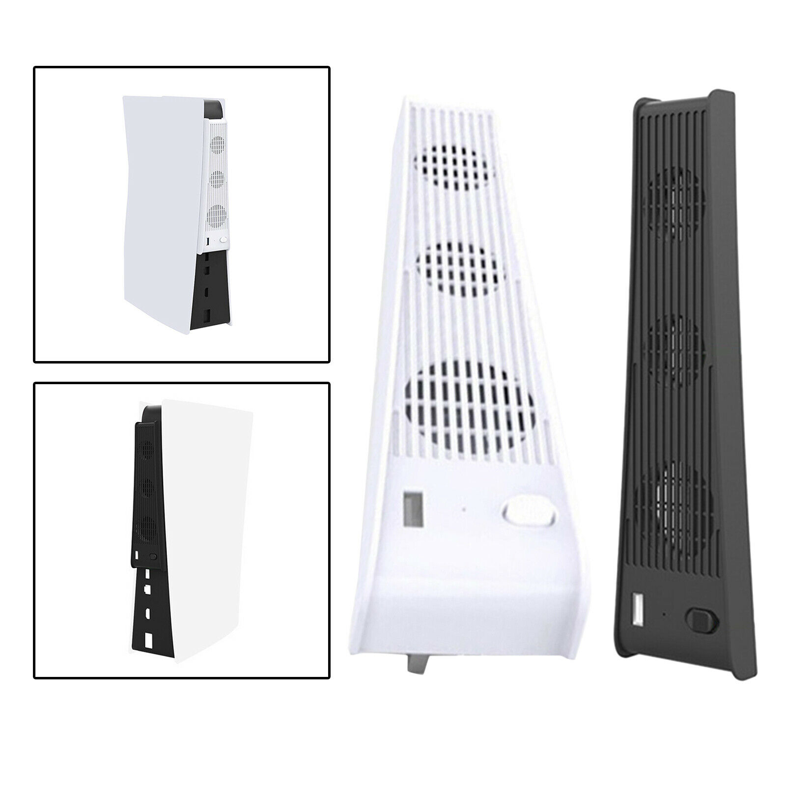 Newest 2 in 1 3-FanHost Cooling Fan for PS5 Controller Console Accessories