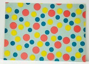 Colored-Circles-Polka-Dots-Bubbles-Art-Postcard-J9