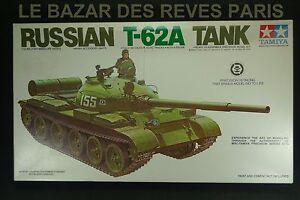 TAMIYA. RUSSIAN T 62 A TANK.   Vintage kit. 1/35.