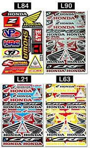 Honda-Wings-Logo-Stickers-Bike-Tank-HRC-Motocross-MTB-MX-Supercross-Decals-Sheet